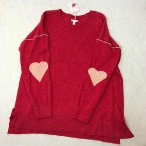 Lauren Conrad • Heart elbow Tunic sweater NWT